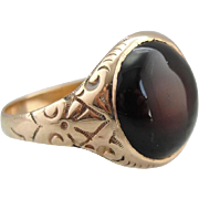 Antique Victorian Red Sardonyx Ring
