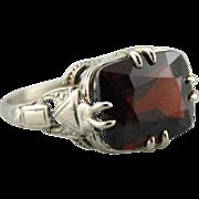 Upcycled Garnet Statement Ring