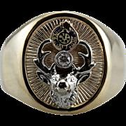 Elk's Club, Men's Diamond Fraternal Organization Ring