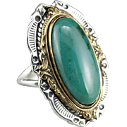 Lovely Chrysocolla Cocktail Ring