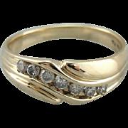 Polished Men's Diamond Wedding Band
