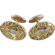 Dapper Victorian Era Diamond Cufflinks