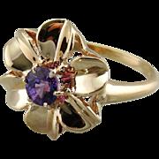 Fun Purple Sapphire Flower Ring
