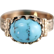 Sweet Upcycled Turquoise Ring