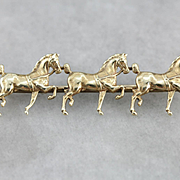 Vintage Hackney Carriage Horse Brooch, Equestrian Pin