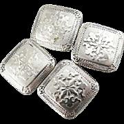 Aristocrat Cufflinks, Vintage 10K White Gold