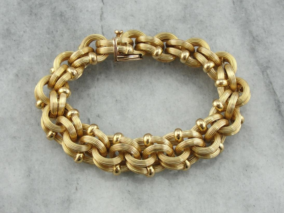 Bold Link Bracelet Italian Substantial Link Style From