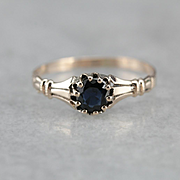 Ostby & Barton Sapphire Solitaire Ring