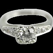 Stunning One Carat Diamond Engagement Ring, Classic Mid Cnetuyr or Retro Era Style