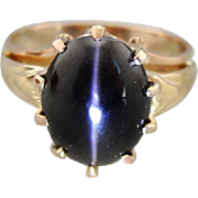 Upcycled Cat's Eye Sillimanite Ring