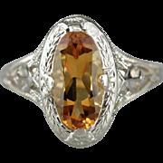 Fine Filigree Citrine Cocktail Ring