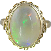 Rainbow Colorfield Opal Cocktail Ring