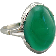 Vintage Green Onyx Ring, Sleek and Sophisticated