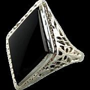 Art Deco 1920's Onyx Ring