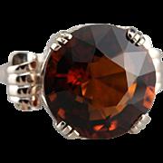 Large Hessonite Garnet Statement Ring