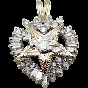 Diamonds, Heart and Stars, One of a Kind Dove Pendant