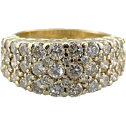 Diamond Encrusted Ladies Band for Wedding Band, Bridal Ring or Amazing, Luxurious Cocktail Ring!