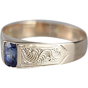 Men's Oval Sapphire Solitaire Ring