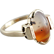 Fantastic Montana Plume Agate Ring