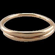 Spectacular 9C Rose Gold English Bangle Bracelet
