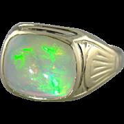 Luxurious Opal Art Nouveau Era Men's Ring