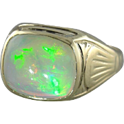 Luxurious Opal Art Nouveau Era Men's Ring