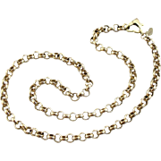 Yellow Gold Milor Chain with Heart Clasp, Bold Look, Affordable Size