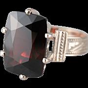 Stunning Gothic Garnet Cocktail Ring