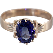 Upcycled Sapphire Solitaire Engagement Ring