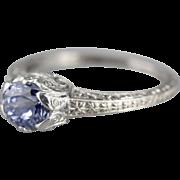 Pretty Purple Sapphire Upcycled Filigree Ring