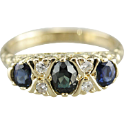 Stunning and Rare Natural Alexandrite and Sapphire Ring