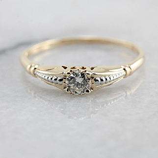 1950's Petite Diamond Engagement Ring