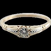 1950's Petite Diamond Engagement Ring