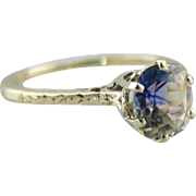 Upcycled Montana Sapphire Engagement Ring