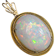 Upcycled Collector's, Investment or Museum Quality Ethiopian Welo Opal Pendant