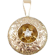 Shadowbox Charm: Tiny Sparkle Diamond Pendant