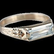 Men's Aquamarine Statement Ring