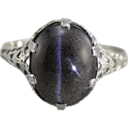 Galaxy Ring, Spectrolite Cat's Eye Cocktail Ring