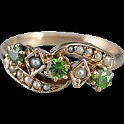 Upcycled Demantoid Garnet Dinner Ring