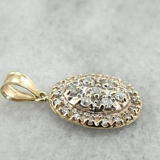 Diamond Studded Vintage Pendant for Day or Evening