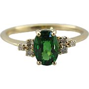 Virginia in Green, The Virginia Ring From the Elizabeth Henry Collection, Tsavorite Garnet Ring