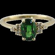 Virginia in Green, The Virginia Ring From the Elizabeth Henry Collection, Tsavorite Garnet Ring