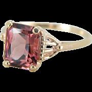 Dusty Rose Pink Tourmaline Ring