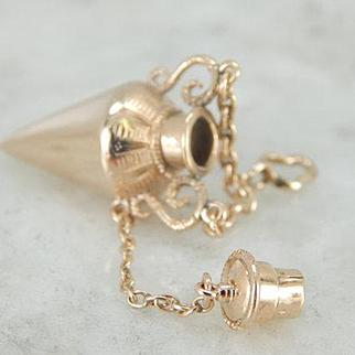 Vintage Perfume Pendant in Polished 10 Karat Yellow Gold