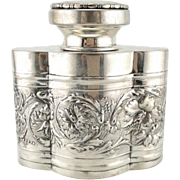 Finer Spirits: Art Nouveau Sterling Silver Decanter with EHC Monogram
