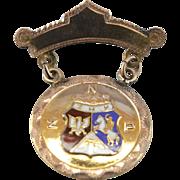 Vintage Polish National Alliance Fraternal Order PNA-ZNP Membership Pin, Early 1900's
