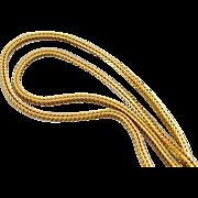 Square Wheat Chain, 22 Karat Gold Chain, Box Wheat Chain