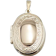 Etched Oval Locket Ready for Monogram