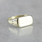 Art Nouveau East West Style Signet Ring