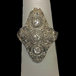 Art Deco 1930's Platinum Diamond Ring